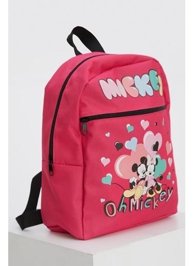 DeFacto Kız Çocuk Minnie Mouse Lisanslı Sırt Çantası Nefti